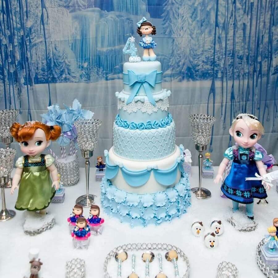 bolo decorado para festa da frozen Foto Atelie Grazielle Daibs