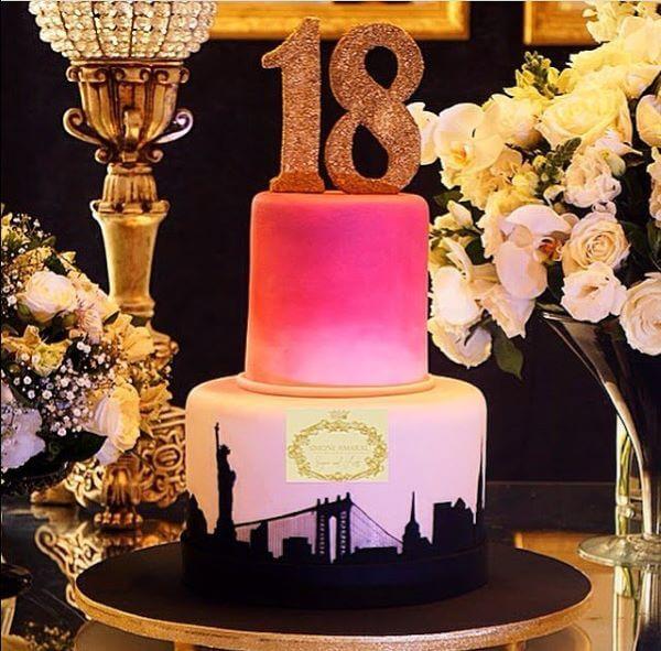 bolo para festa de 18 anos