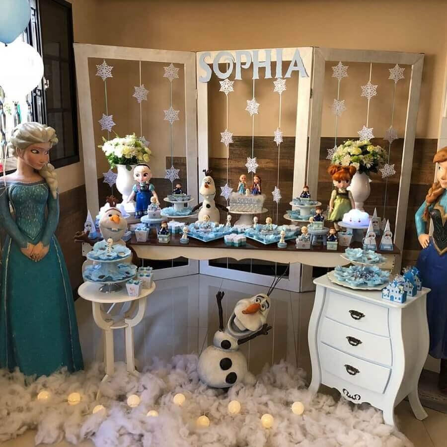 bonecos para decoração de festa de aniversário da frozen Foto Personalizarte Decorações