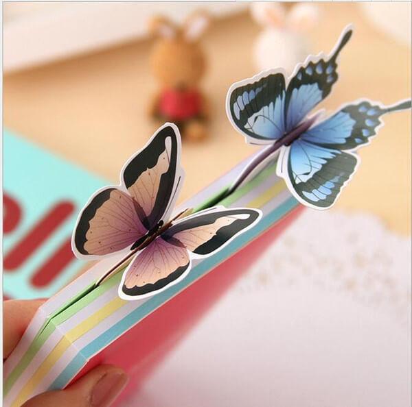 Borboletas de papel para livros