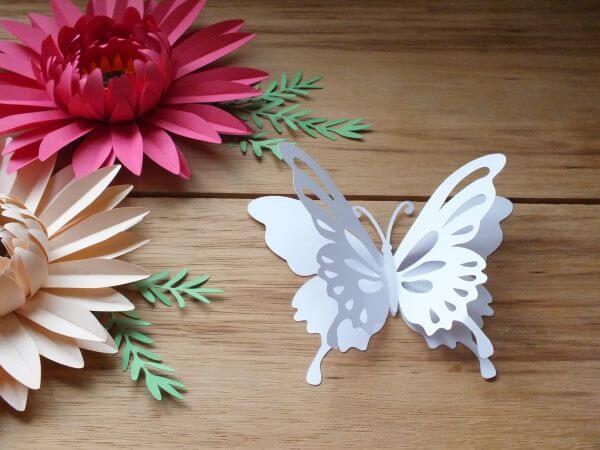 Como fazer borboleta de papel 3D