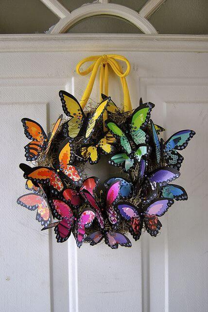 borboletas de papel coloridas