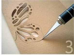 As borboletas de papel são lindas