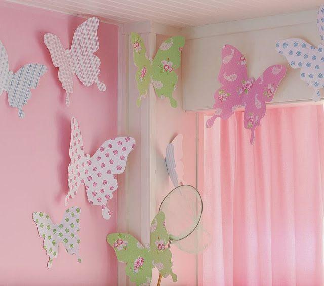 Borboletas de papel para usar na decoração do quarto de bebê