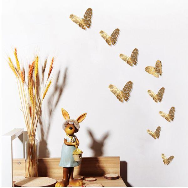 borboletas de papel dourado