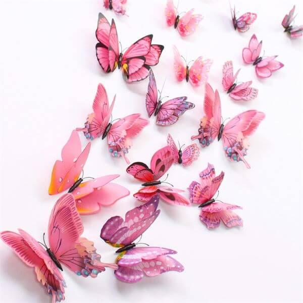 Veja como fazer borboleta de papel 3D