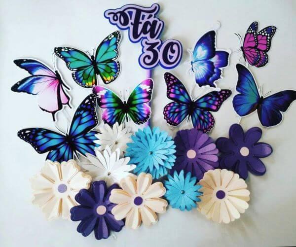 moldes de borboleta de papel