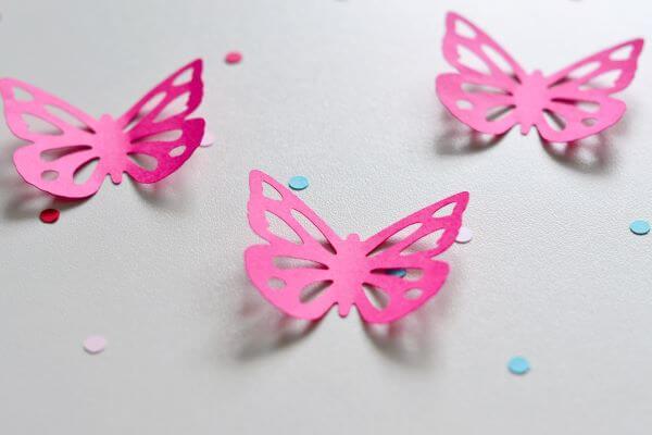 borboletas de papel na decoração da sua casa