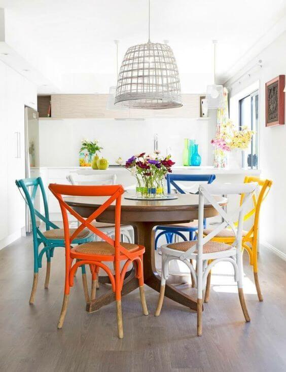 cadeira colorida para cozinha