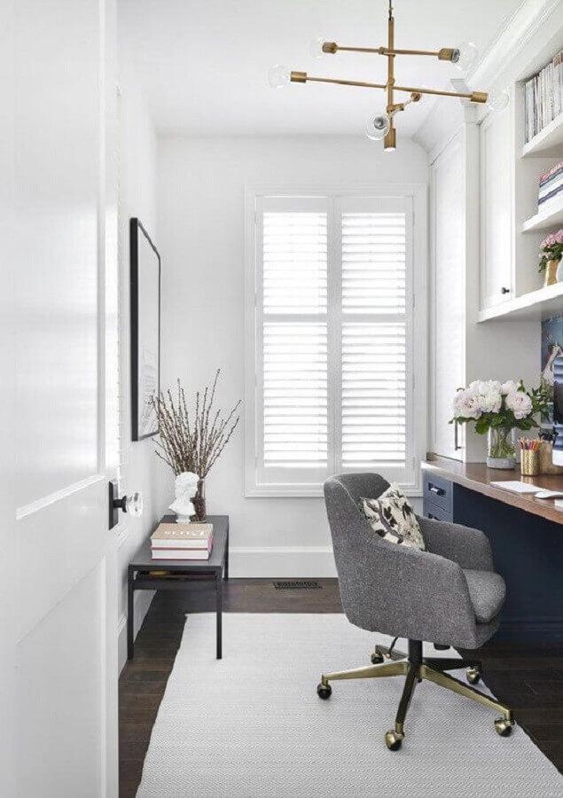 cadeira decorativa giratória cinza Foto Lumin Lamp House