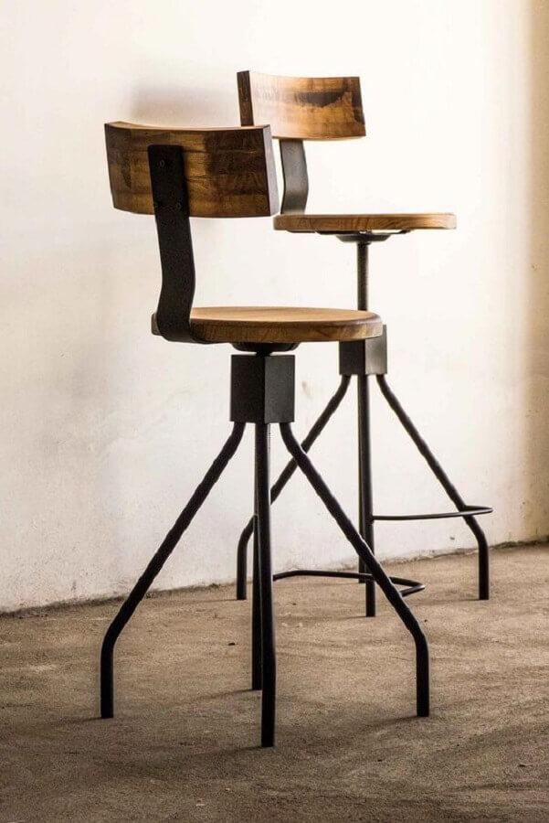 cadeira decorativa giratória rústica Foto Pinterest