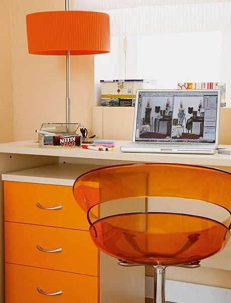 cadeira de escritório colorida
