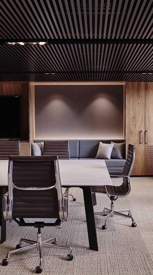 cadeira giratória com braço para sala de reuniões Foto Blog Arredamento