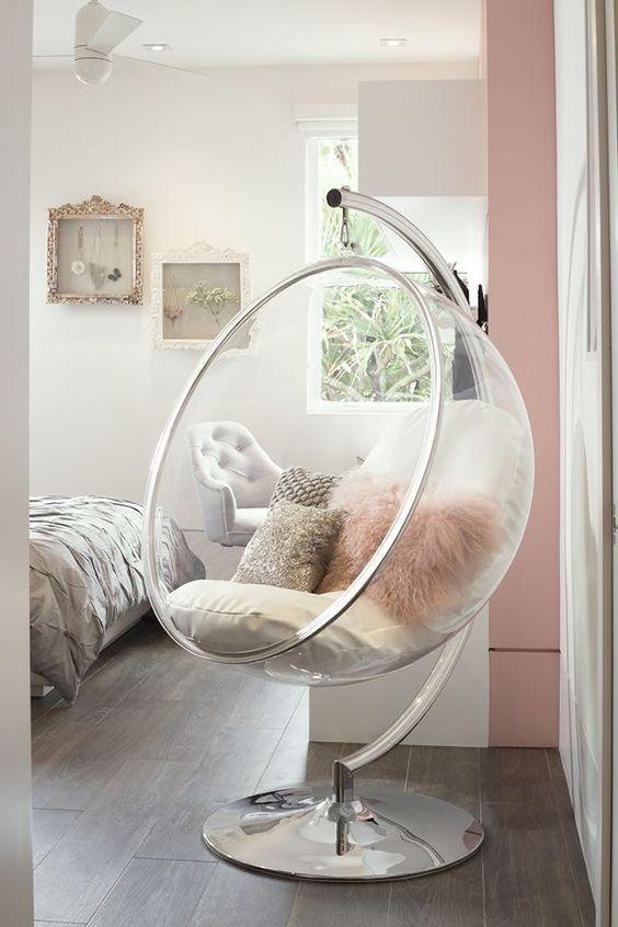 Cadeira moderna para quarto feminino