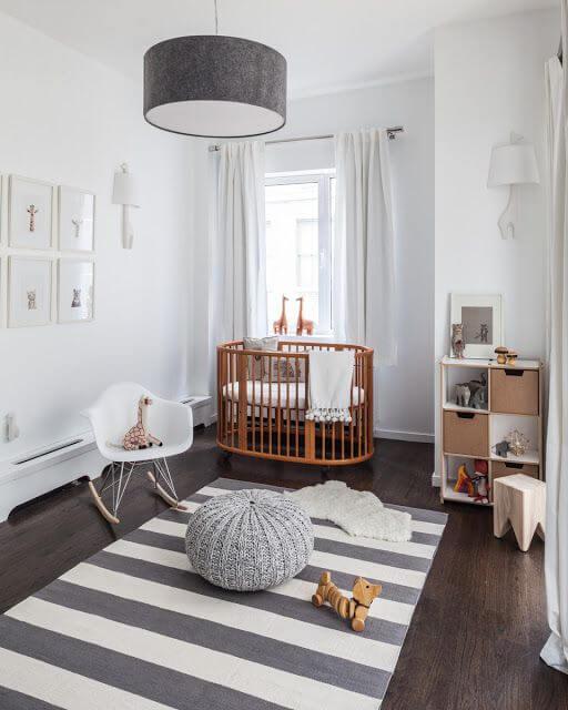 Cadeira para quarto de bebê minimalista e lindo