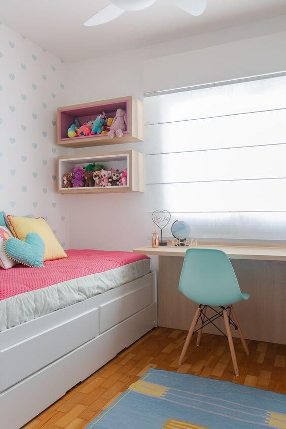 cadeira para quarto turquesa