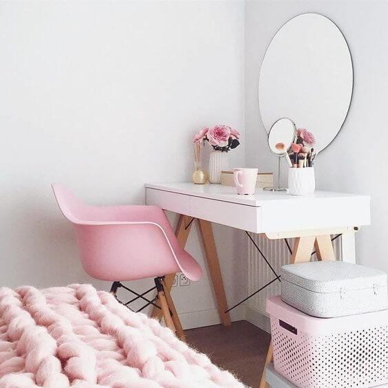 Cadeira moderna para quarto feminino para penteadeira