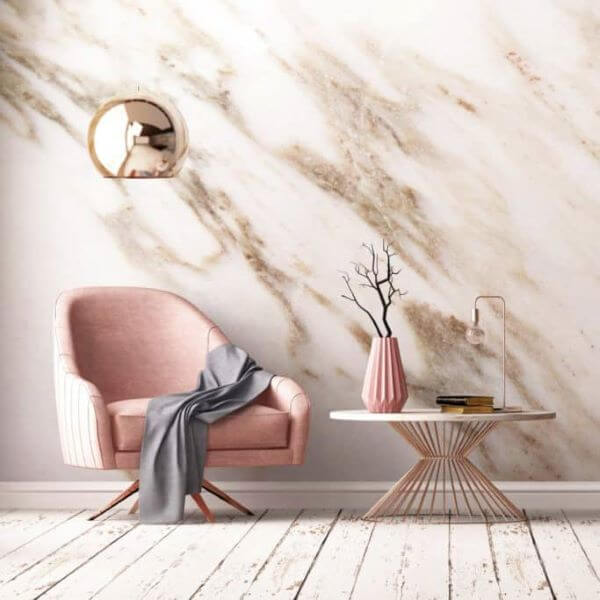 Cadeira rosa para quarto moderno