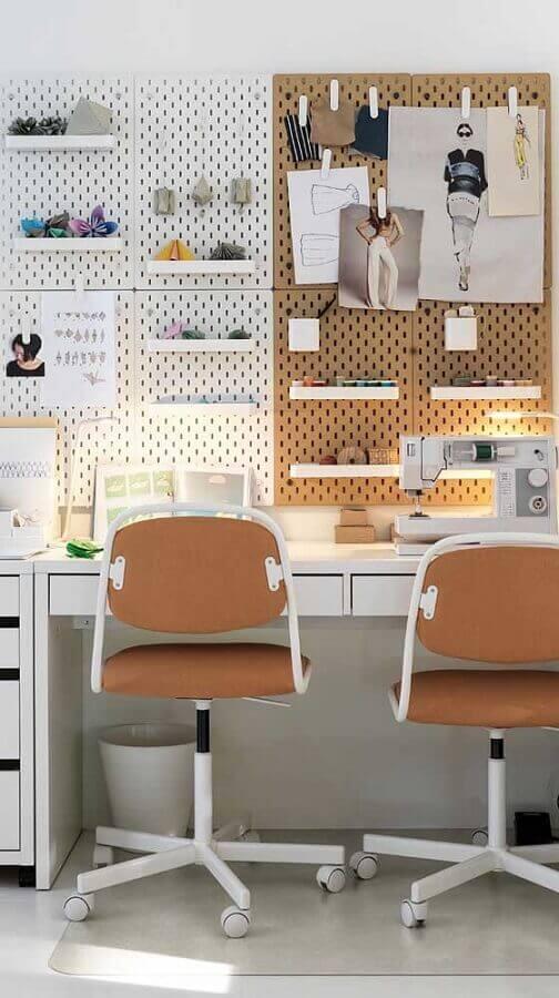 cadeiras giratórias para decoração de escritório pequeno moderno Foto Ideias Decor