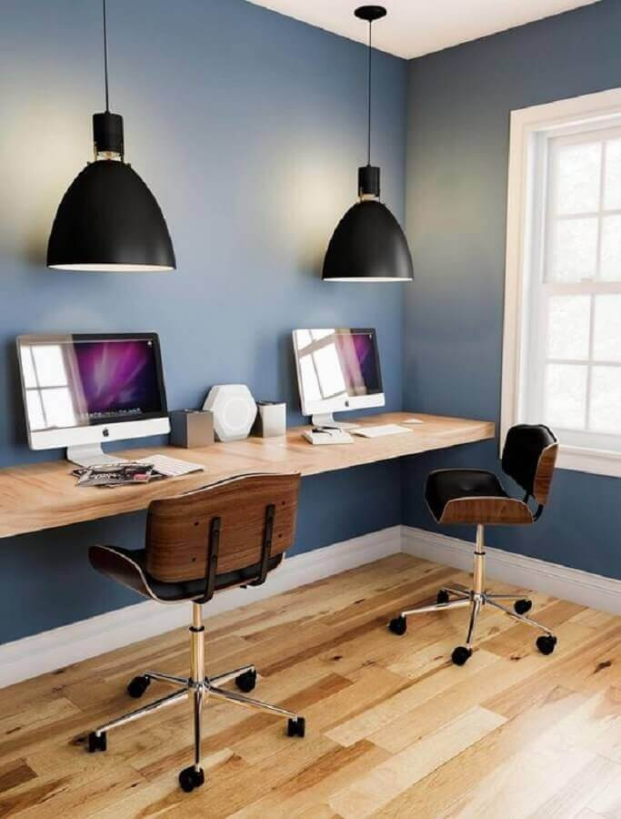 cadeiras giratórias para decoração de home office simples Foto Target