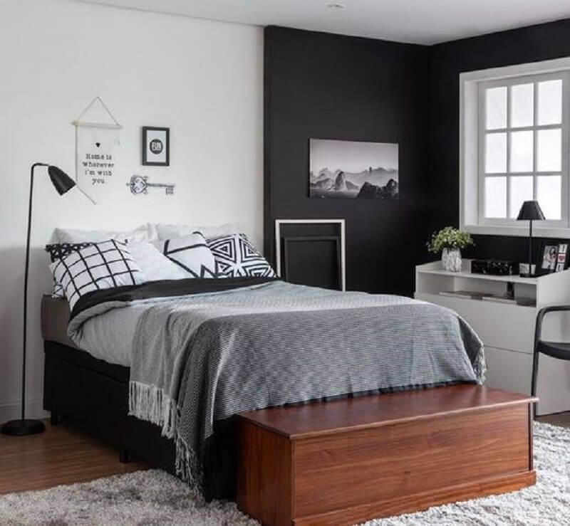 cama box bau solteiro para quarto moderno com baú de madeira Foto Compre VC