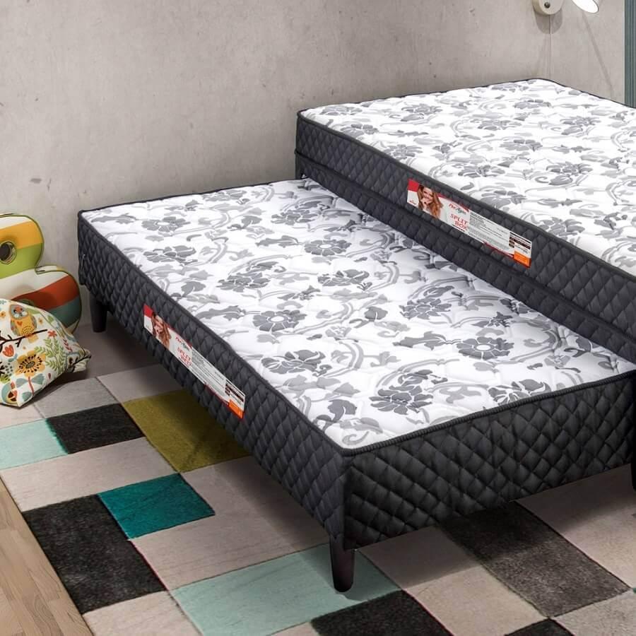 cama box conjugada solteiro Foto Dicasa Shop