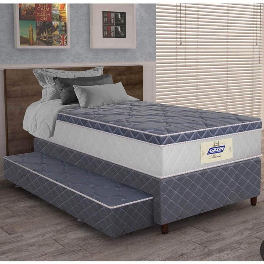 cama box conjugada solteiro com cama auxiliar Foto Webcomunica