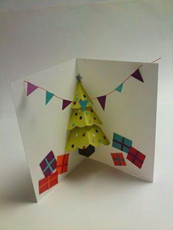 cartão de natal - cartão artesanal 3d