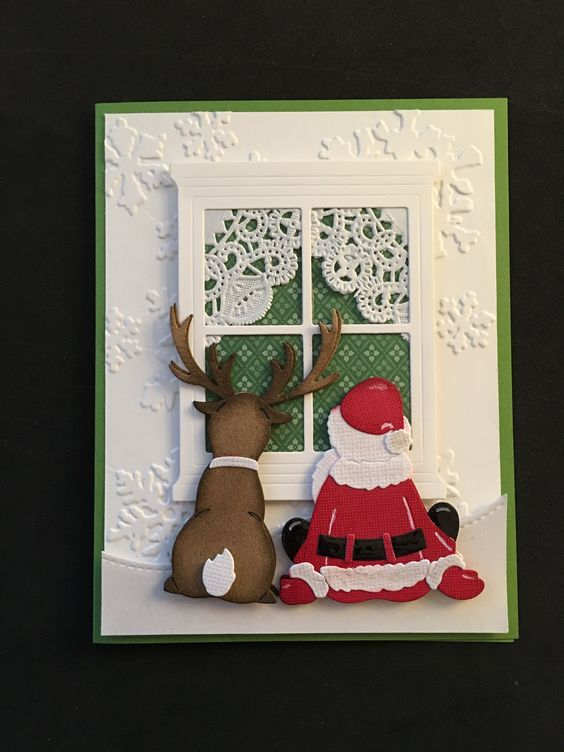 christmas card - decorated white card