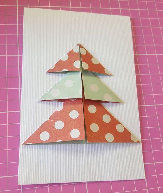 cartão de natal - cartão com árvore colorida