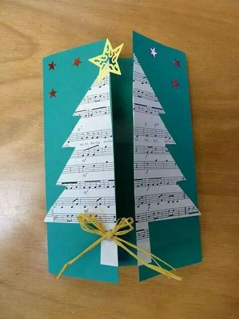 christmas card - double opening card