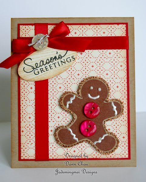 cartão de natal - cartão com biscoito de gengibre