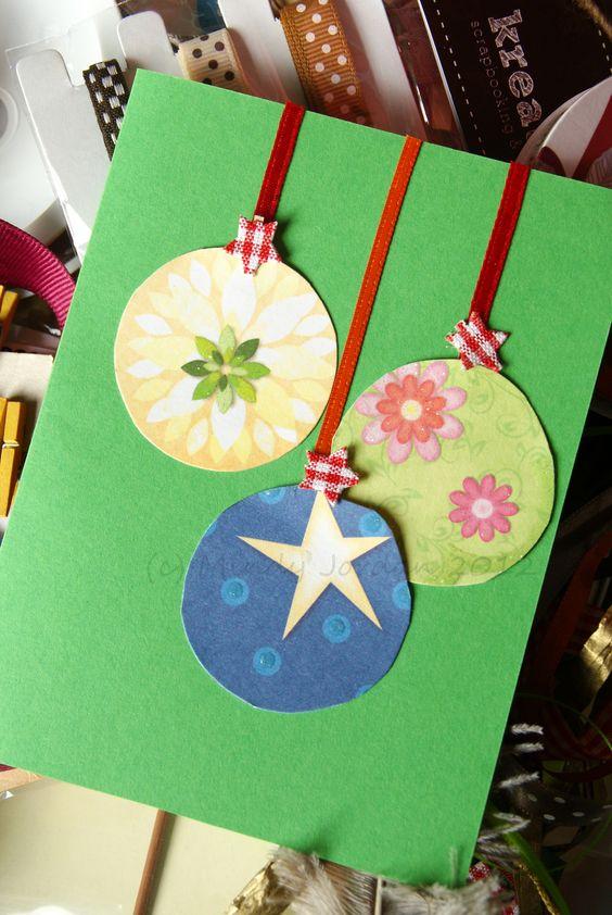 cartão de natal - cartão com bolas natalinas