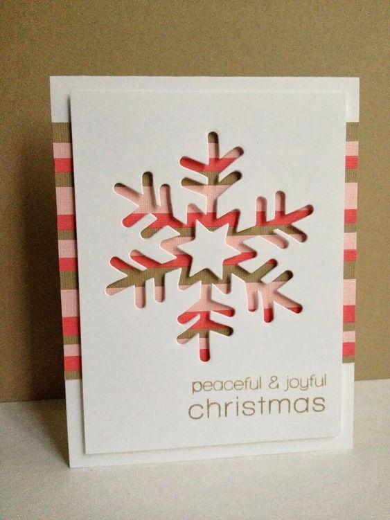 christmas card - snowflake card