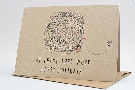cartão de natal - cartão com frase divertida