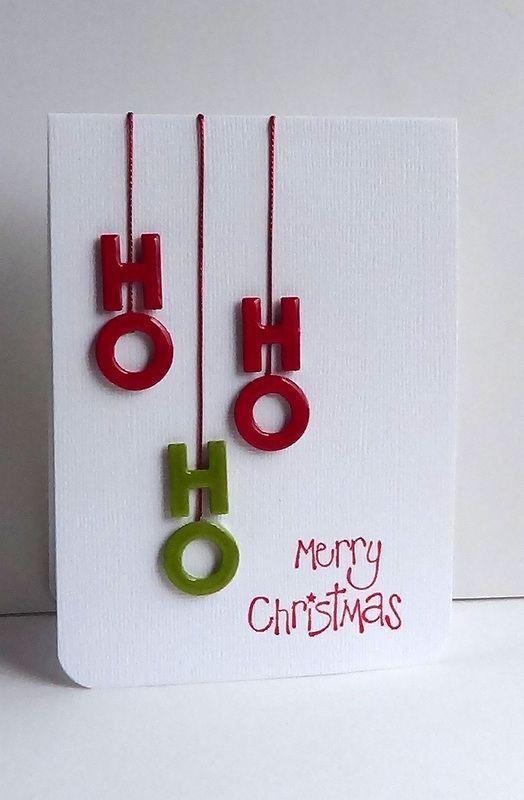 cartão de natal - cartão com letras