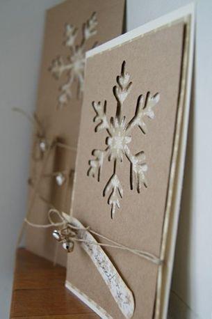 cartão de natal - cartão com papel craft