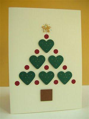 cartão de natal - cartão de árvore feito à mão