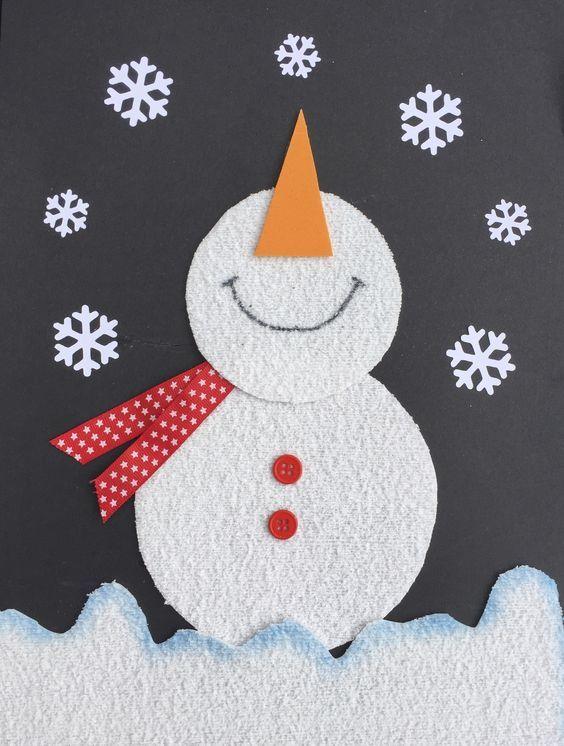 cartão de natal - cartão de boneco de neve