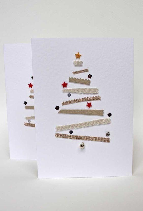 cartão de natal - cartão de natal branco simples