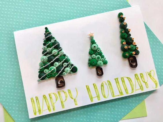 cartão de natal - cartão de natal com árvores