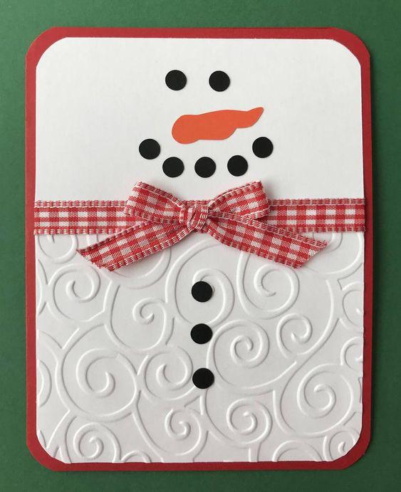 cartão de natal - cartão de natal com boneco de neve
