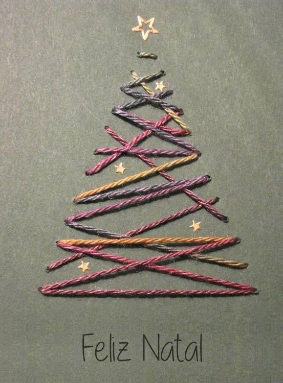 cartão de natal - cartão de natal com linhas