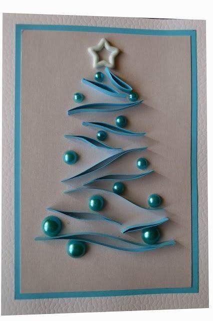 christmas card - beaded christmas card