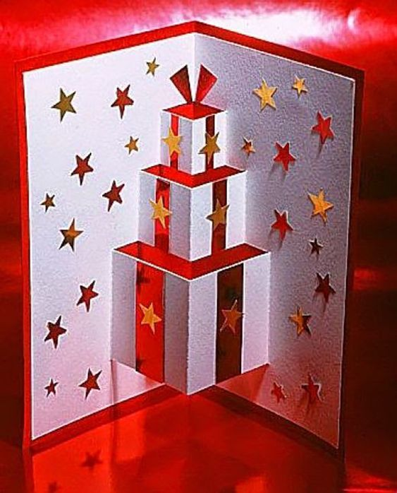 christmas card - christmas card with gifts 3d