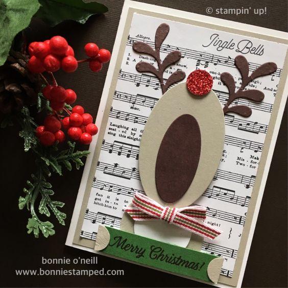 christmas card - christmas card with reindeer