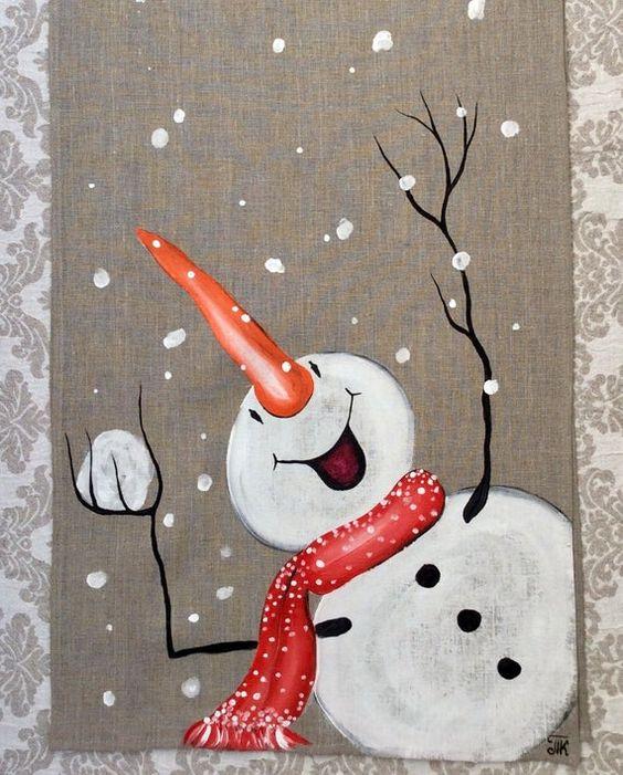 cartão de natal - cartão de natal pintado