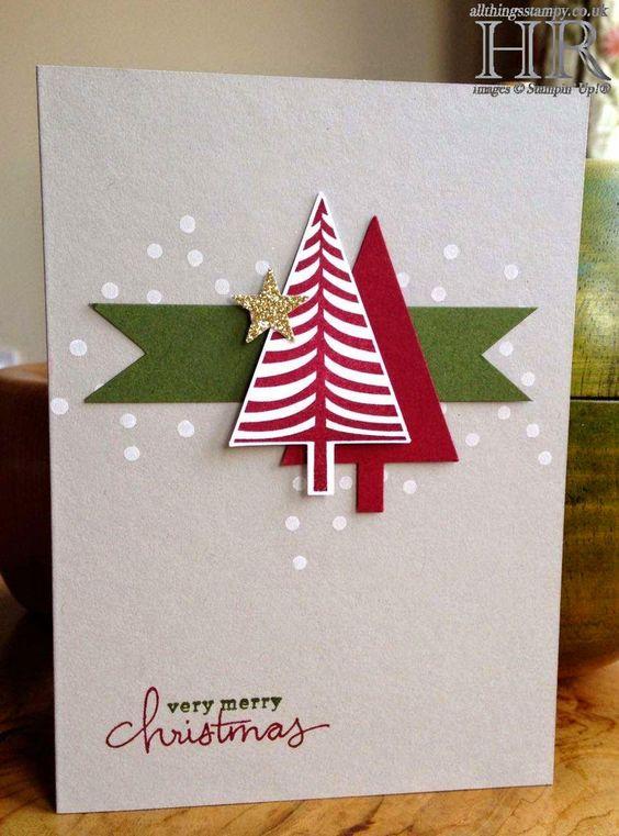 christmas card - simple and colorful christmas card