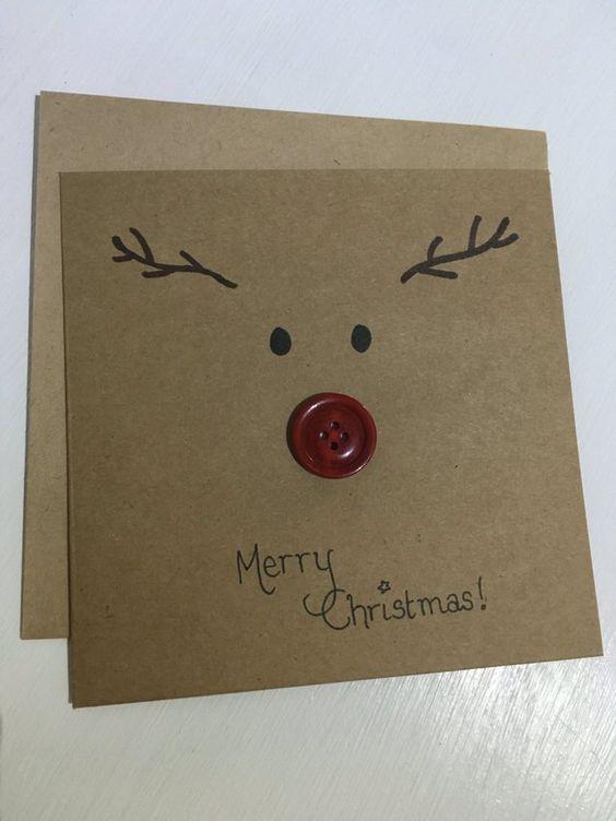 cartão de natal - cartão de rena