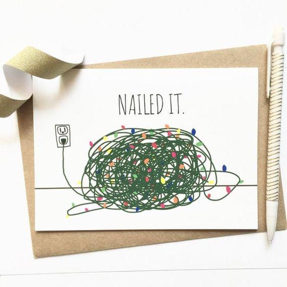 cartão de natal - cartão divertido
